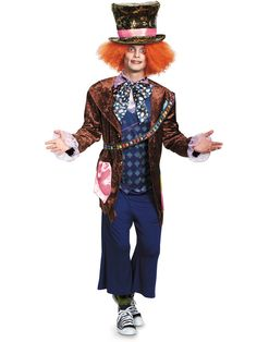 Alice Through The Looking Glass Mad Hatter Deluxe Costume Adult