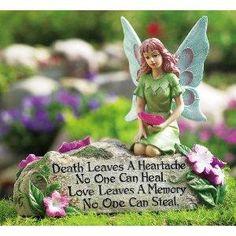 Fairy Figurine Memorial Garden Stone