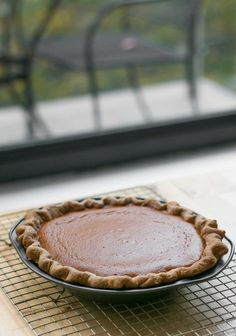 Pumpkin pie recipe with toasted marshmallow topping