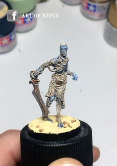"""""""Mummy"""" (Conan boardgame by Monolith) painting : Art of Effix"""