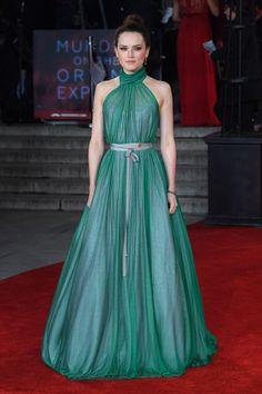 Daisy Ridley in custom Vivienne Westwood.