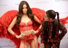 Angels Have Landed! - nhlovesadri:   Adriana Lima with her wax figure at...