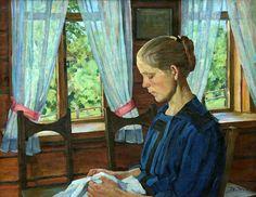 Shura's Portrait, Konstantin Yuon