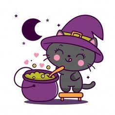 Vivid8 | Freepik Chat Halloween, Halloween Stickers, Unicorn Cat, Cute Unicorn, Pot Magique, Train Cartoon, Cross Stitch Games, Unicorn Wallpaper Cute, Mermaid Cartoon