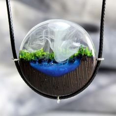 HAILEYNOLIN.COM. $59 · Our new pendant model Forest River! Very bright and attractive pendant. Perfect for everyone! We carefully monitor the quality of each of our products and offer you the best prices. The wooden… More. #resinart #epoxyart #casting #lacing Resin Necklace, Resin Jewelry, Jewelry Bracelets, Craft Jewelry, Womens Jewelry Rings, Women Jewelry, World Necklace, Wood Resin, Metal Clay