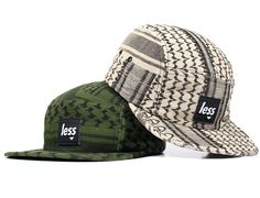 Shemagh Square Logo 5 Panel Cap by LESS