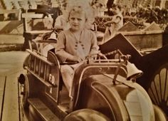 #Fireengine #kidsride at Keansburg Amusement Park. This photo dates back the late 1930s. #Fireengines are still there for the kids to ride.
