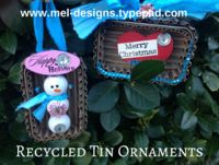 Use cardboard and mint tins to create fun recycled tin ornaments Aluminum Can Crafts, Glue Gun Crafts, Mint Tins, How To Make Ornaments, Diy Cards, Christmas Ornaments, Christmas Ideas, Eco Craft, Shadowbox Ideas