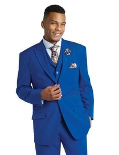 EJ-Samuel-Tailored-Fit-Royal-Blue-3-Piece-Mens-Suits-M2683-Jacket-Vest-Pants-Men
