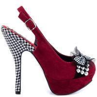 Bettie Page Women's Caroline Pumps - Red Heels | Find.com