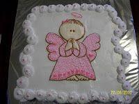 pasteles de bautizo angelitos de niña , Buscar con Google