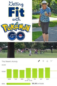 Getting Fit With Pokémon GO - Get fit and lose weight with Pokémon GO. This fitness program is an easy way to have fun by getting out and walking around hunting for Pokémon GO.