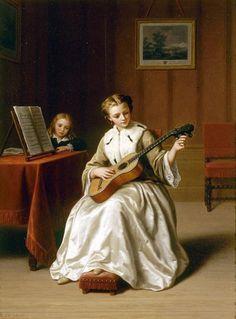 Tuning the guitar, by Basile de Loose