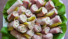 Swojskie jedzonko: Szyneczki zawijane z prażonym słonecznikiem-pyszna przekąka Asparagus, Sushi, Sausage, Meat, Fruit, Vegetables, Ethnic Recipes, Impreza, Food