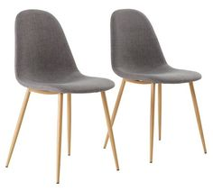 Buy Hygena Beni Pair of Dining Chairs - Grey at Argos.co.uk, visit Argos.co.uk to shop online for Dining chairs, Dining room furniture, Home and garden