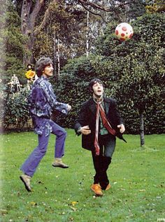 George H. Harrison♥♥S. J. Paul McCartney♥♥playing soccer