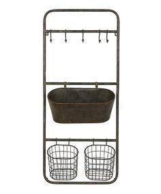 Take+a+look+at+this+Rust+Five-Hook+Metal+Shelf+on+zulily+today!