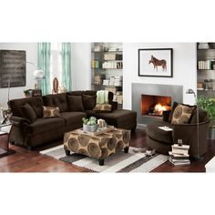 Cordoba Chocolate Cocktail Ottoman | Value City Furniture