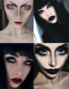 halloween makeup- check out the alien in the top left corner. craziness.