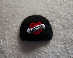 I Love Mom Dad Hat Black Photo Prop Newborn by cuteittybitty, $10.00