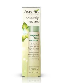 Aveeno Positively Radiant Targeted Tone Corrector - for hyperpigmentation. Facial Hair Removal Cream, Aveeno Active Naturals, Light Gels, Body Hacks, Skin Problems, Dark Spots, 1 Oz, Anti Aging Skin Care, Beauty