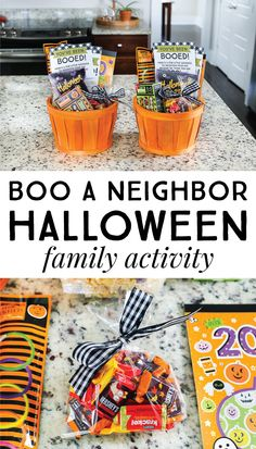 You've Been Booed Halloween Family Activity – The Littles & Me Grab your favorite treats and get ready to surprise Halloween Gift Baskets, Halloween Goodies, Halloween Boo, Halloween Crafts For Kids, Halloween Season, Halloween Activities, Halloween 2020, Halloween Gifts, Holidays Halloween