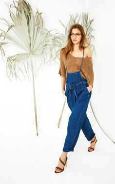 Ulla Johnson denim jumper from her Pre-Fall 2016 collection