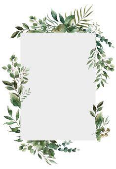 Greenery Border - Wedding Invitation Template | Greetings Island