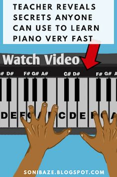 See the newest never revealed secrets on how anyone can learn Piano within a week Piano Lessons For Kids, Piano Lessons For Beginners, Kids Piano, Le Piano, Music Theory Piano, Piano Music Easy, Piano Songs, Piano Teaching, Learning Piano