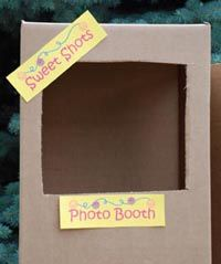 Homemade photo booth for any bday party
