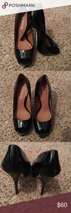 Aldo black peep toe pumps New, never been worn Aldo black peep toe pumps. Aldo Shoes Heels