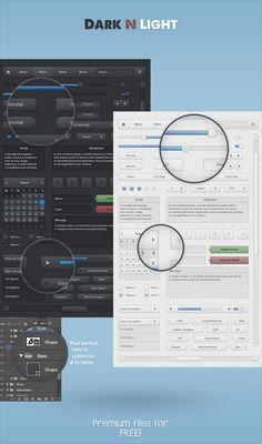 Dark N Light - Free UI Set