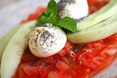 Carpaccio of tomato with burrata, where? At Mint Cucina Fresca, Polignano a Mare, Puglia, Italy
