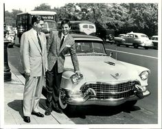 Jerry Lewis and a 1955 Cadillac