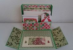 Christmas kit with tutorial. Five A2 cards, 3x3 cards, tags and embellishments.