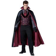 Dracula Costume Adult Victorian Vampire Halloween Fancy Dress #Incharacter