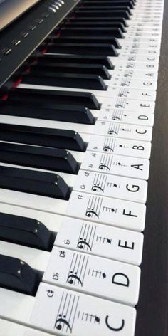 This set of label stickers is for a 61 key piano or keyboard, Labels are in order ready to be placed on the keys with middle C highlighted for easy reference. Labels are easily removed if needed. Each Label is 20mm wide x 48mm long on an Opaque Gloss white paper. The labels will help anyone wanting to learn piano, with the letter of the key and note placement on the bar to aid and help speed up the process of learning piano. LET'S MAKE PIANO EASIER SO MORE CAN ENJOY ITS BEAUTIFUL MUSIC.