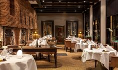 Great #restaurant, beautiful #interior! This is Vinkeles in boutique #hotel The Dylan in #Amsterdam.