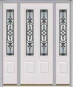 Door with two sidelites. Milliken Millwork. Jacinto - 422JA  sc 1 st  Pinterest & Entry door. Double door. Milliken Millwork. Veranda - 686VR | Entry ...