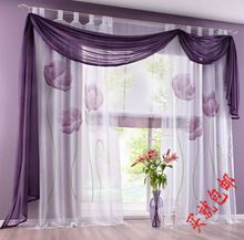 three color handmade fabrics beautiful curtain window screening Balcony Sheer curtains for Living Room Window Blinds Valance(China (Mainland))