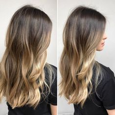 Perfect lived-in balayage Balayage Hair Blonde, Brown Blonde Hair, Brunette Hair, Honey Balayage, Brunette Highlights, Brunette Color, Bronde Haircolor, Hair Color And Cut, Hair Colour