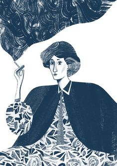 Eleni Kalorkoti - Virginia Woolf