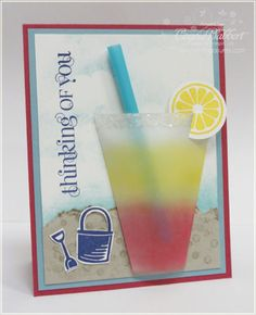 pop-up card lemonade glass | Summer Splash Lemonade Glass
