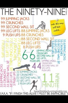 99's. Amazing workout I got from my Marine