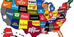 This Map Shows The Most Famous Brand From Every State; branding; http://www.businessinsider.com/the-most-famous-brand-in-every-state-2013-6