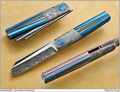 Meteorite damascus. I believe it's a knife, but it might make a decent straight razor. And it's beautiful.