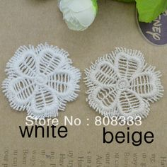 100pcs DIY fringe water soluble 5cm white beige lace trim garment decoration round floral tassel trimming ,contact BDJIN@FOXMAIL.COM for more details