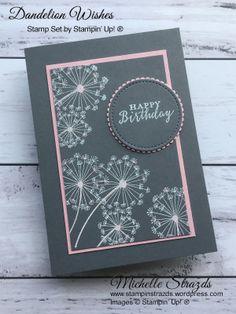 Sending Well Wishes Your Way with Dandelion Wishes - Blumenkarten Birthday Wishes For Women, Birthday Wishes Cards, Funny Birthday Cards, Homemade Birthday Cards, Homemade Cards, Diy Birthday, Happpy Birthday, Mini Album Scrap, Karten Diy
