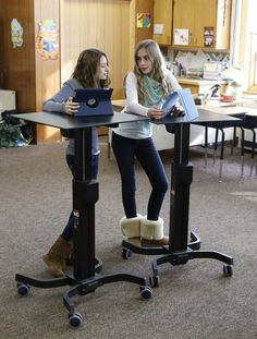 """Standing Desks at school may help with child obesity"" https://www.nlm.nih.gov/medlineplus/news/fullstory_156858.html"