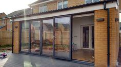 Image result for bifold doors into garden Patio Doors, Garden, Room, Furniture, Image, Home Decor, Bedroom, Garten, Decoration Home
